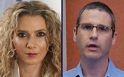 Judge Ronit Poznansky-Katz (L) and the Israel Securities Authority's legal adviser, Eran Shacham-Shavit (R)
