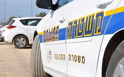 Illustrative: Police patrolling an Israeli highway. (Israel Police)