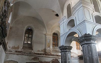 Illustrative: the interior of the the Great Synagogue of Slonim, selected for preservation by The Foundation of Jewish Heritage. (Foundation of Jewish Heritage)