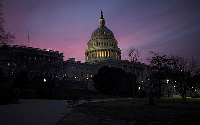 The US Capitol building shown on Feb. 9, 2018. (Zach Gibson/Getty Images via JTA)