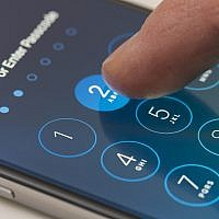 Illustrative image of the passcode screen of an iPhone. (ymgerman/iStock by Getty Images)