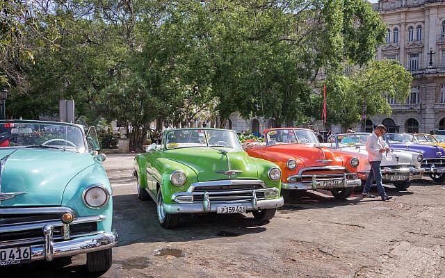 Vintage American cars parked in Old Havana (iStock)
