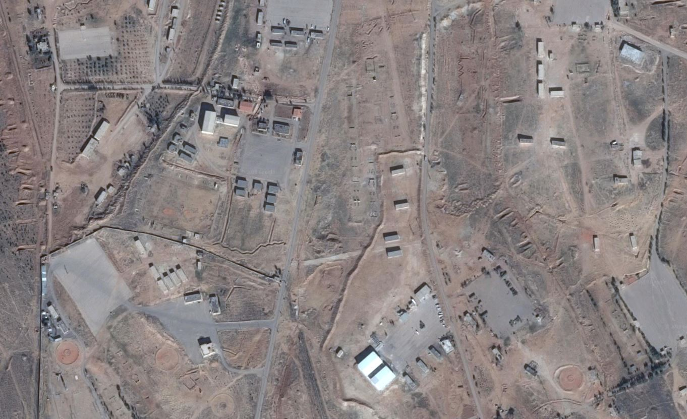 A picture of the alleged Iranian base