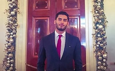 An undated picture of Ammar Campa-Najjar, a Democratic candidate for California's 50th congressional district. (screen capture: Facebook)