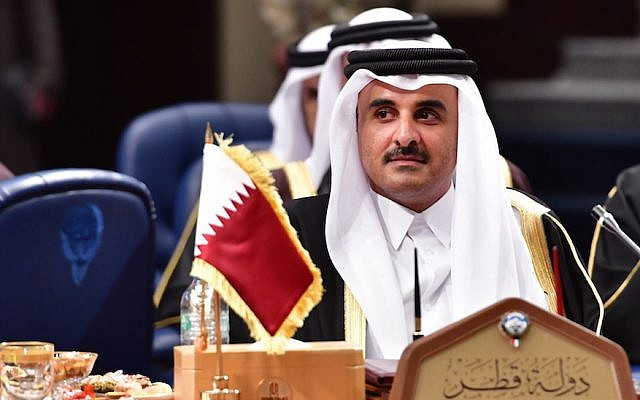 Qatar's Emir Sheikh Tamim bin Hamad al-Thani attends the Gulf Cooperation Council (GCC) summit at Bayan palace in Kuwait City on December 5, 2017. (GIUSEPPE CACACE/AFP/Getty Images)