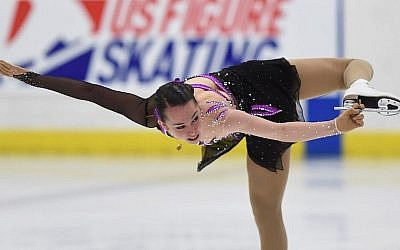 Aimee Buchanan of Israel competes in the ladies short program at the US International Figure Skating Classic, Day 2, at the Salt Lake City Sports Complex, September 16, 2016 in Salt Lake City, Utah. (Gene Sweeney Jr./Getty Images)