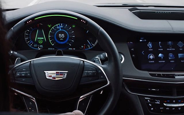 Behind the wheel of the CT6 (YouTube screenshot)