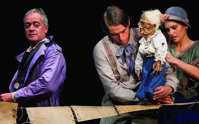 A scene from 'Tehila' by S.Y. Agnon, put on by the Khan Theatre Company. (Yael Ilan)