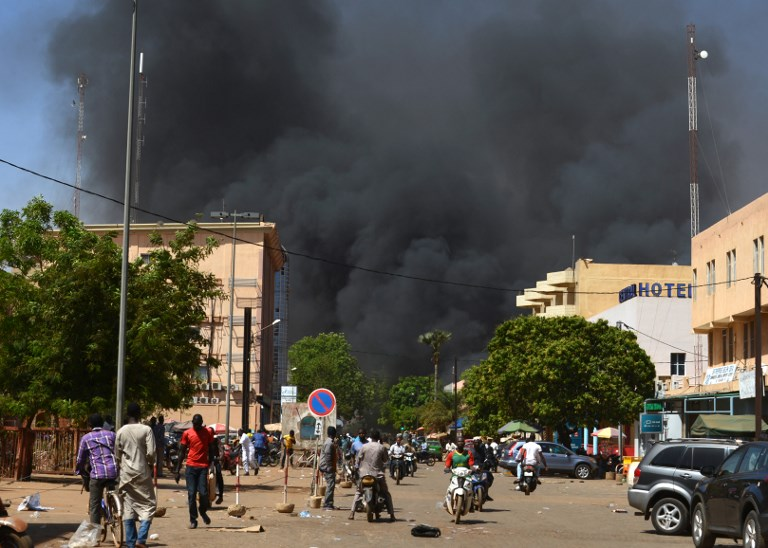 Gunmen attack French embassy and military headquarters in Burkina Faso