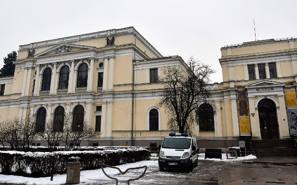 This photograph taken on February 22, 2018, shows The National Museum of Bosnia and Herzegovina, in Sarajevo, which has revealed the new space intended for keeping one of museum's most valuable items, the famous Sarajevo Haggadah. (AFP PHOTO / ELVIS BARUKCIC)