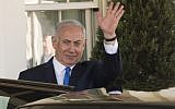 Prime Minister Benjamin Netanyahu leaves the White House on March 5, 2018, after meeting with US President Donald Trump. (AFP Photo/Saul Loeb)