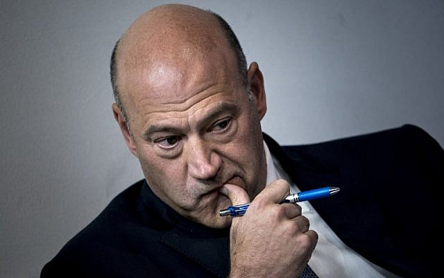 In this file photo taken on September 28, 2017, then National Economic Council director Gary Cohn waits to speak about tax reform during a briefing at the White House. (AFP Photo/Brendan Smialowski)