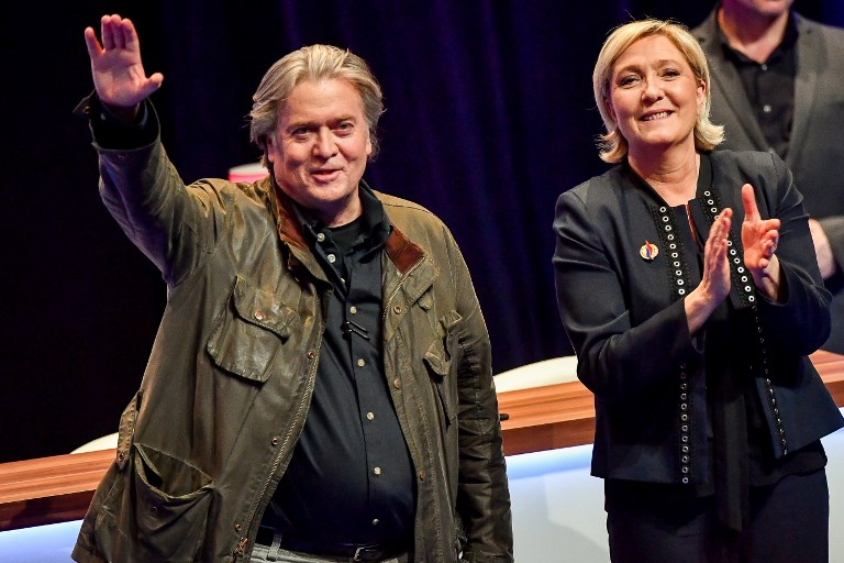 Steve Bannon tells National Front members in France history is on their side