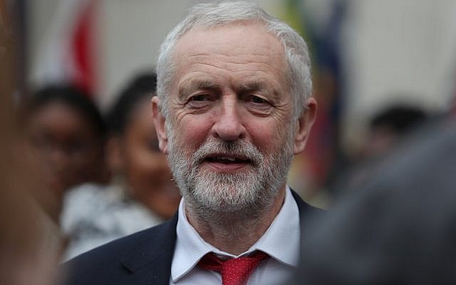 Britain's opposition Labour Party Leader Jeremy Corbyn leaves a Commonwealth Day Service at Westminster Abbey in central London, on March 12, 2018. (AFP/Daniel Leal-Olivas)
