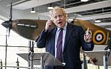 Britain's Foreign Secretary Boris Johnson speaks at a joint press conference with his Polish counterpart Jacek Czaputowicz during a visit to the Battle of Britain Bunker in Uxbridge on March 16, 2018. (AFP Photo/Pool/Tolga Akmen)