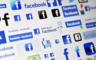 Logos of US online social media and social networking service Facebook. (AFP PHOTO / LOIC VENANCE)