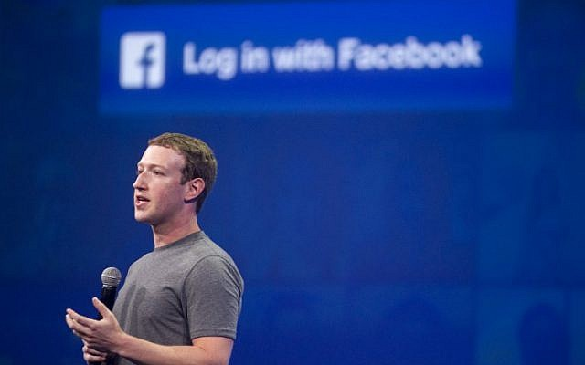 In this photo taken on March 25, 2015 Facebook CEO Mark Zuckerberg speaks at the F8 summit in San Francisco, California. (AFP PHOTO / Josh Edelson)