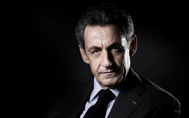 In this photo taken on October 18, 2016 the former French president Nicolas Sarkozy poses for a portrait in Paris. (AFP PHOTO / JOEL SAGET)