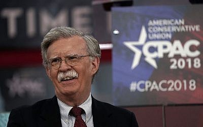 This photo taken on February 22, 2018 shows former US Ambassador to the United Nations John Bolton speaking during CPAC 2018 in National Harbor, Maryland. (AFP/Getty Images North America/Alex Wong)