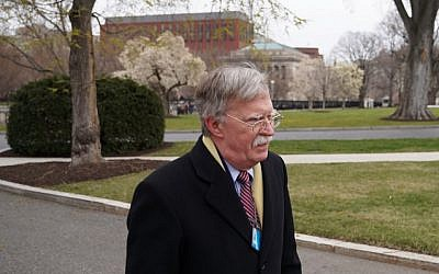 Incoming National Security Adviser John Bolton seen on the driveway of the White House on March 27, 2018 in Washington, DC. (AFP PHOTO / Mandel NGAN)