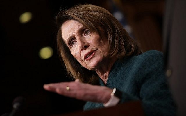 US House Minority Leader Nancy Pelosi speaks during a news conference at the US Capitol on March 22, 2018. (Win McNamee/Getty Images/AFP)
