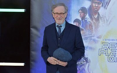 "Steven Spielberg attends the Premiere of Warner Bros. Pictures' ""Ready Player One"" at Dolby Theatre on March 26, 2018 in Hollywood, California.  ( Neilson Barnard/Getty Images/AFP)"