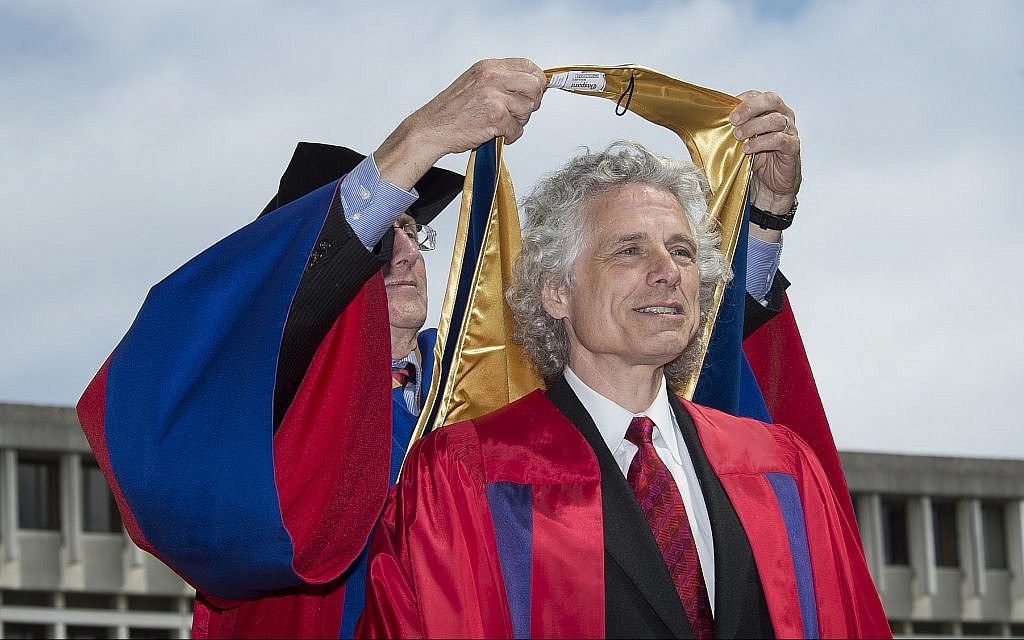 Prof. Steven Pinker receiving an honorary doctorate from Simon Fraser University. (Simon Fraser University)