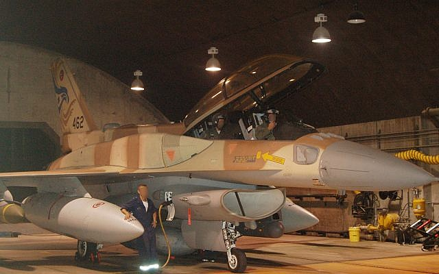 A pilot and navigator from the Israeli Air Force's 253rd Squadron prepare for an operation to bomb a Syrian nuclear reactor in Deir Ezzor on September 5, 2007. (Israel Defense Forces)