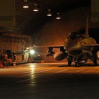 An F-16I fighter jet of the Israeli Air Force's 253rd Squadron prepares to take off during an operation to bomb a Syrian nuclear reactor in Deir Ezzor on September 5, 2007. (Israel Defense Forces)