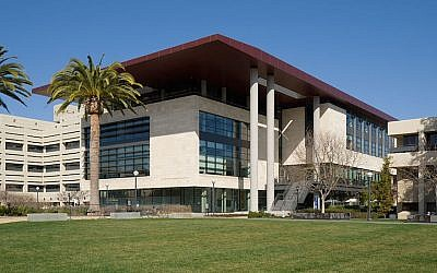 A view of the Li Ka Shing Center for Learning and Knowledge at the Stanford University School of Medicine. (Wikimedia Commons via JTA)