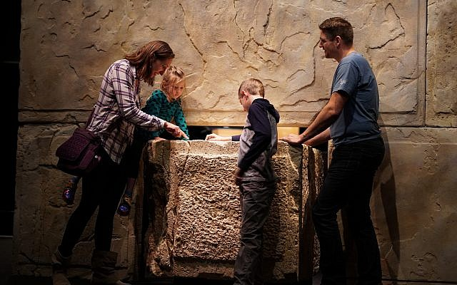 Part of the Dead Sea Scrolls Exhibition in the Denver Museum of Nature and Science. (Yoli Shwartz, Israel Antiquities Authority)