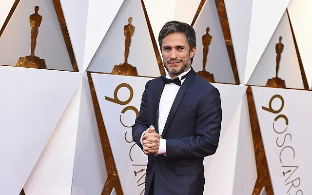 Gael Garcia Bernal arrives at the Oscars on Sunday, March 4, 2018, at the Dolby Theatre in Los Angeles. (Jordan Strauss/Invision/AP)