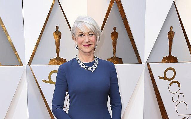 Helen Mirren arrives at the Oscars on Sunday, March 4, 2018, at the Dolby Theatre in Los Angeles. (Jordan Strauss/Invision/AP)