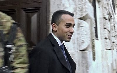 In this image taken from video, Five-Star Movement Leader Luigi Di Maio speaks to reporters as he leaves home in Rome, Monday, March 5, 2018, the day after Italy's general elections. (ANSA via AP)