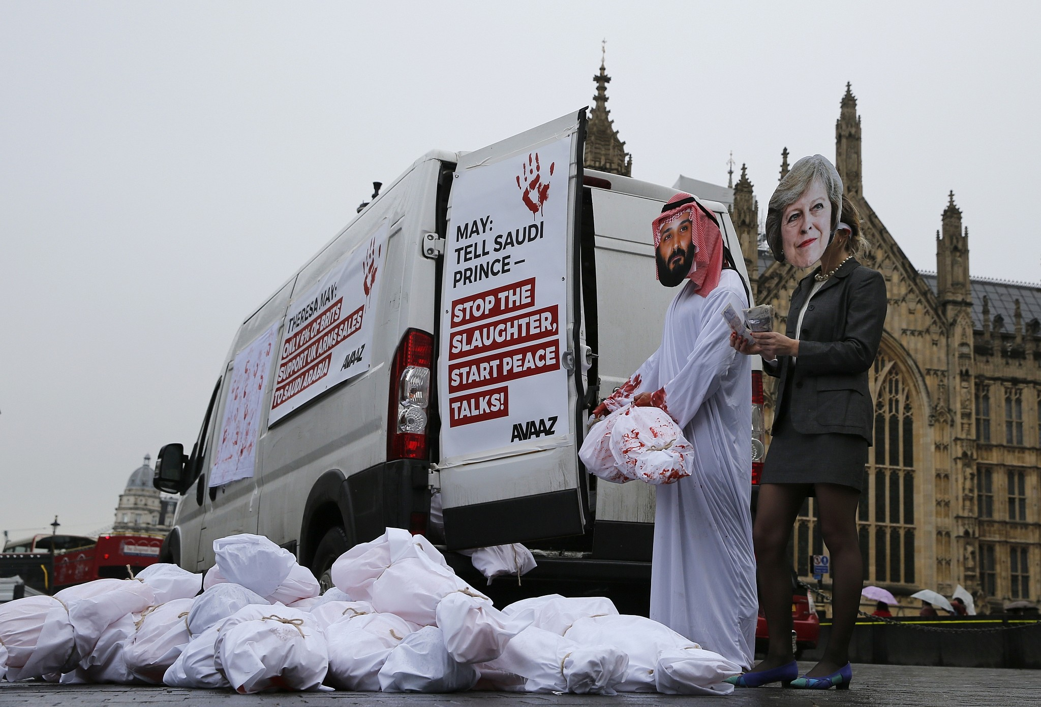 Saudi Crown Prince Greeted In Britain With Pomp Protests The