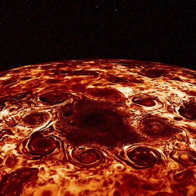 NASA's Juno Probe Peers Into Jupiter's Mysterious Atmosphere and Polar Regions