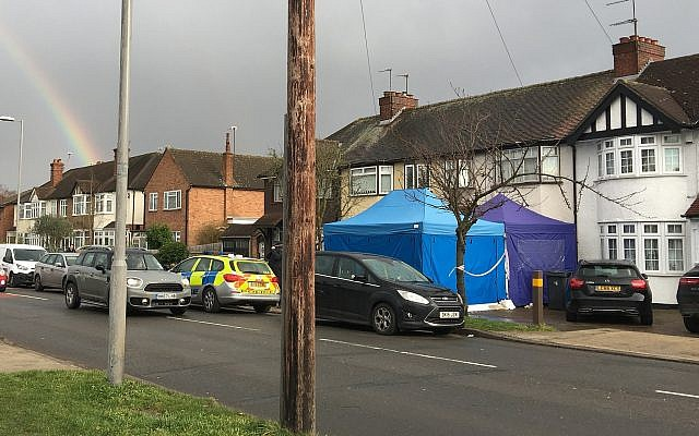 Police activity at a residential address in southwest London, Tuesday March 13, 2018. According to a police statement Tuesday a Russian businessman named as Nikolai Glushkov, who is associated with a prominent critic of the Kremlin has died in London. (AP Photo / Eva Ryan)