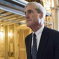 In this June 21, 2017, photo, special counsel Robert Mueller departs after a meeting on Capitol Hill in Washington. (AP Photo/J. Scott Applewhite)