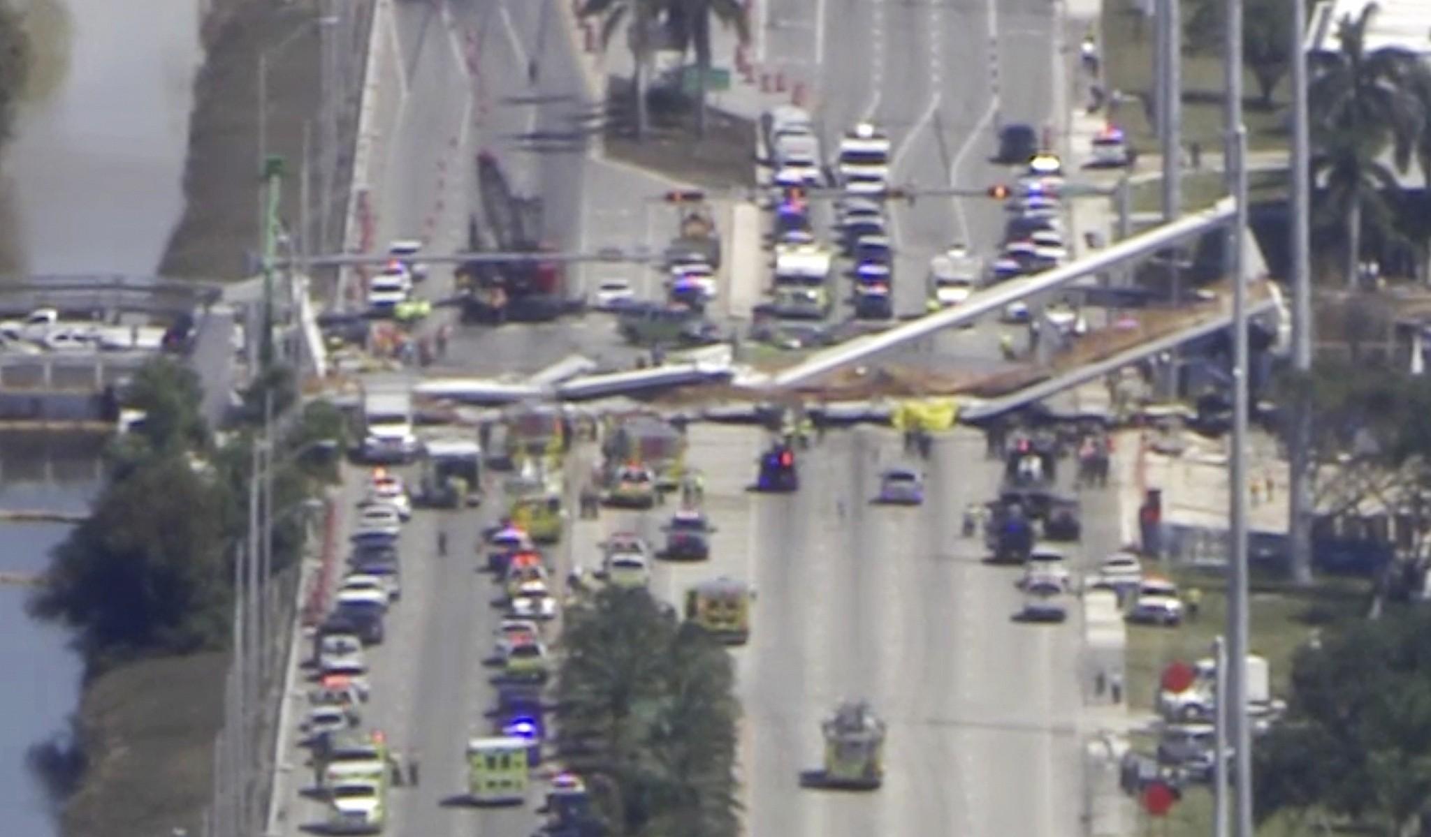 Several people killed in Miami pedestrian bridge collapse | The