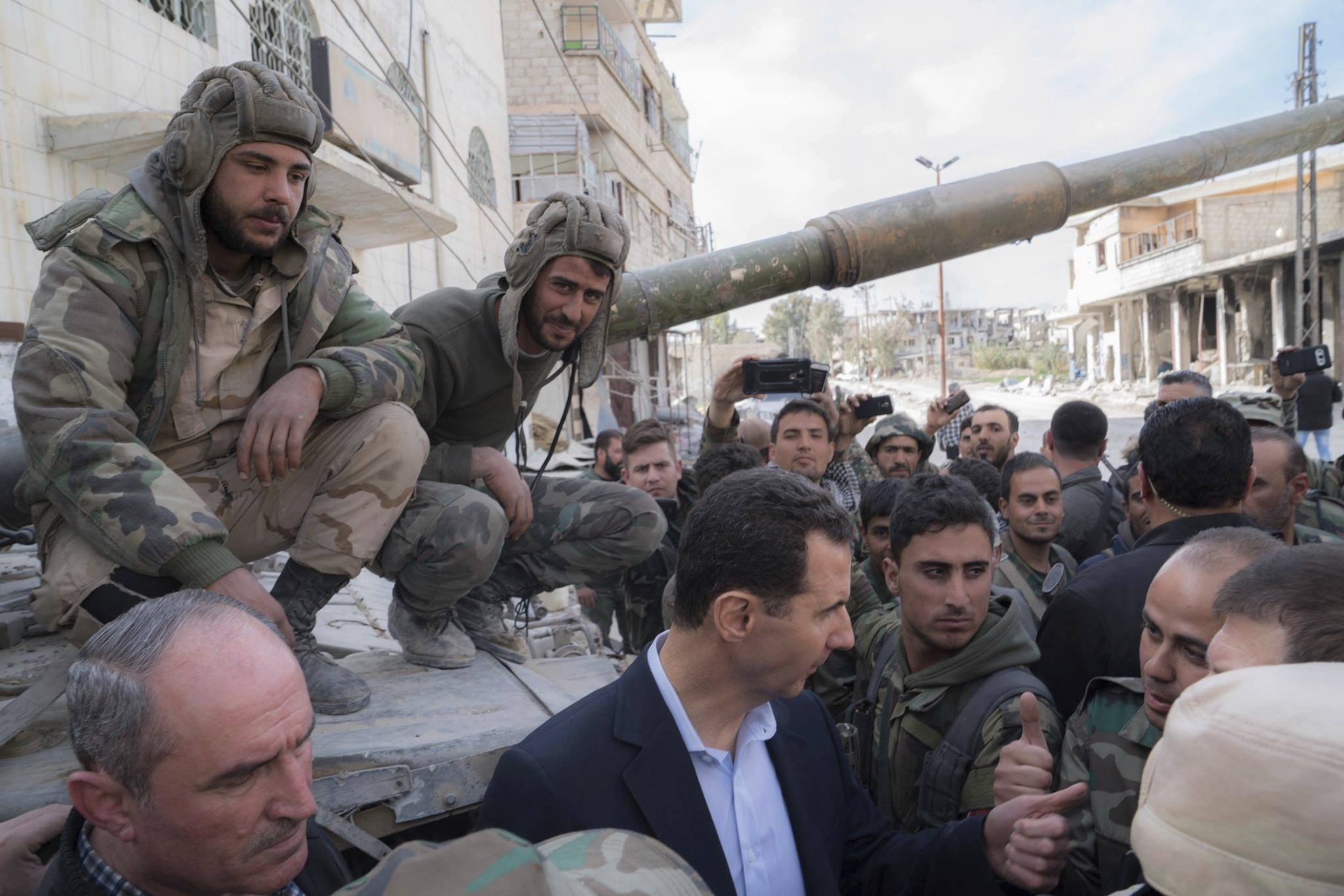 Syrian government troops found in the captured stocks of militants 44