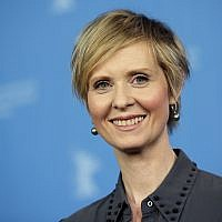 Actress Cynthia Nixon during a photo call for the film 'A Quiet Passion' at the 2016 Berlinale Film Festival in Berlin, Germany, February 14, 2016. (AP Photo/Michael Sohn, File)
