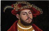 'Portrait of John Frederick I, Elector of Saxony,' by Lucas Cranach the Elder (Christie's Images via AP)