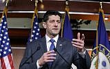 Speaker of the House Paul Ryan, R-Wis., speaks during a news conference about the massive government spending bill moving through Congress, on Capitol Hill in Washington, March 22, 2018. (AP Photo/J. Scott Applewhite)
