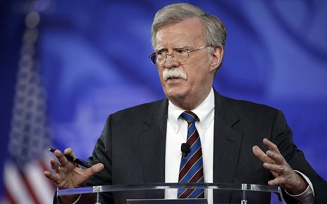 Bolton as US security adviser 'shameful'