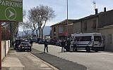 Police respond to a suspecter terror attack in Trebes, southern France, on March 23, 2018. (Newsflare/Tarbouriech Roseline via AP)