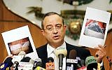 Marwan Muasher, then Jordan's deputy premier, delivers a speech on November 13, 2005. (AP Photo/Nader Daoud)