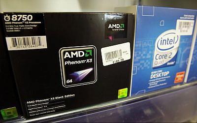 An Advance Micro Devices (AMD) Phenom X3 chip on display, file (AP Photo/Paul Sakuma)