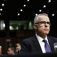In this June 7, 2017 file photo, acting FBI Director Andrew McCabe appears before a Senate Intelligence Committee hearing about the Foreign Intelligence Surveillance Act on Capitol Hill in Washington. (AP Photo/Alex Brandon)