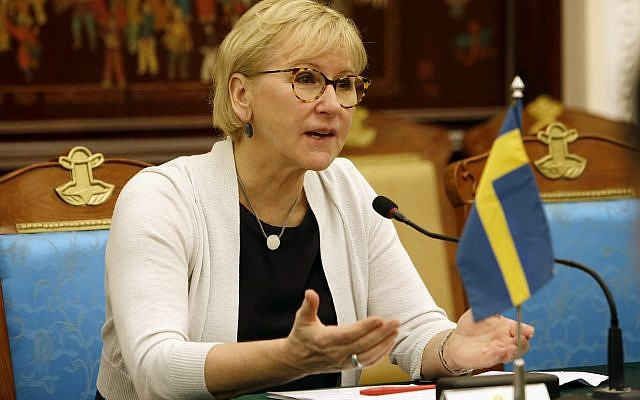 Swedish Foreign Minister Margot Wallstrom in Hanoi, Vietnam, November 23, 2017. (AP Photo/Tran Van Minh)