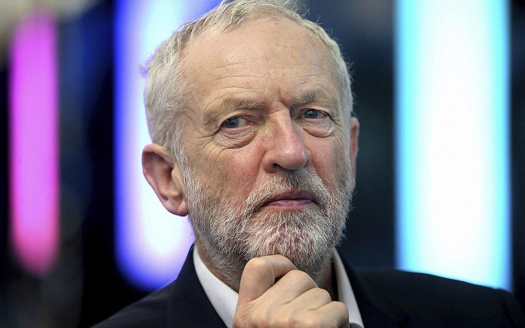 Britain's Labour Party leader Jeremy Corbyn,  March 9, 2018. (Jane Barlow/PA via AP)
